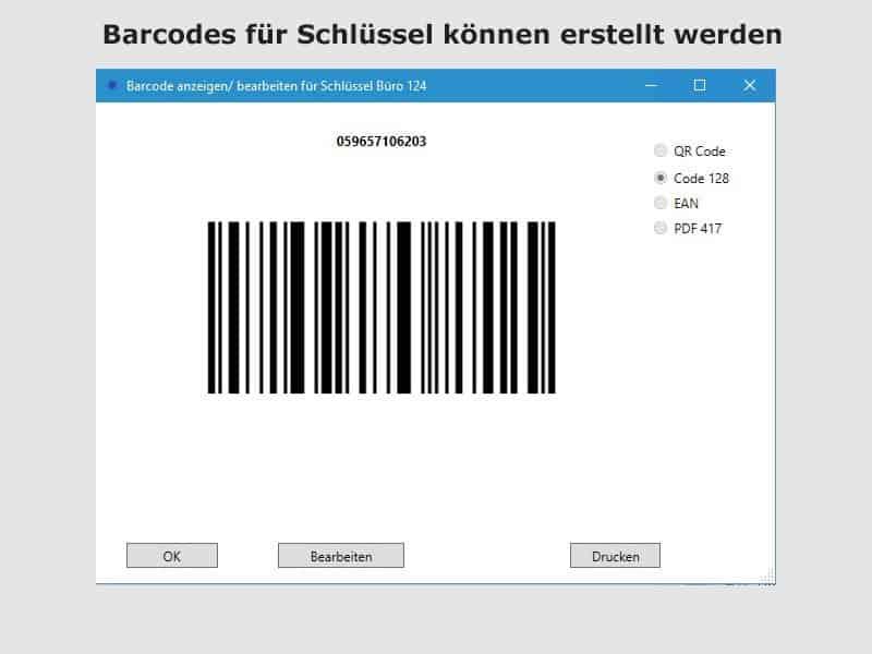 barcode schlüsselmanagement